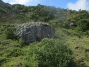 Anyela on second ascent of Palomita on La Nina boulder