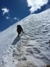 Nearing the Summit Ridge, Muzkol Pamir, Tajikistan