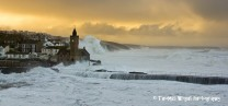 Very stormy seas at Porthleven
