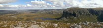 Panorama looking across to the spectacular Sron Uladail