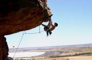 Mark Gould climbing Kachoong Mount Arraps Australia Au 21<br>© Kev on the road