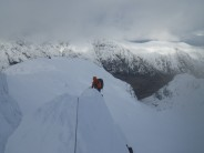Approaching the arete.