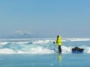 Crossing Lake Baikal, Siberia
