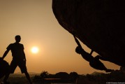 Bouldering in Hampi, India<br>© Andrew Stelmach