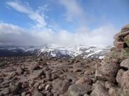 Summit Cairn of Beinn A'Chaorainn - View toward Macdui Plateau