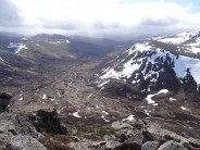 View down Glen Derry from Stob Coire Etchacan