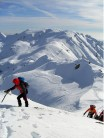 Winter hillwalking in central Italy.