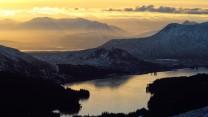 Loch Ossian from Beinn Eibhinn
