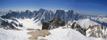 View from Aiguille d'Argentiere