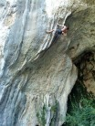 John Stark getting used to the climbing on the Cote d'Azur.