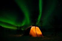 Lightshow in the Norwegian mountains Frostskade