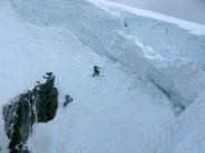 Skiing the gullies