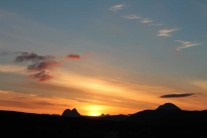 Sunset over Suilven
