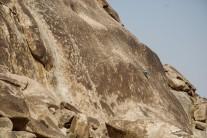 Holdless granite slab in the desert near Riyadh, Saudi Arabia