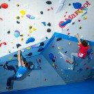 Climbing in one Of VauxWall's Arches