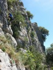 Bis Trop at Chaulet Plage - one of the few easy unpolished routes!