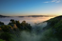Cave Dale and Peveril Castle, Castleton, Peak District