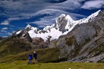 View of Jirishanca from the Mitococha Valley, Cordillera Huayhuash.