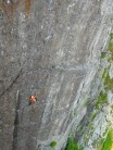One of three of yesterday's ascents of Right Wall, midweek.