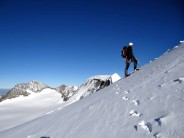 Heading on towards the high peak of Piz Palu