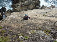 Fiona on the first pitches of  The Devil's Slide