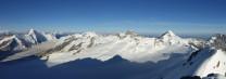 View from the summit of Gross Fiescherhorn