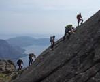 The Fellowship of the Ridge. The Dubhs Ridge (Dubh Slabs), Isle of Skye<br>© Vanessa Simmons