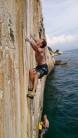 Klemen Becan doing Psihobloc 7c, Ciovo island