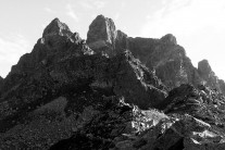 Petit Pic du Midi d'Ossau and Grand Pic from SW
