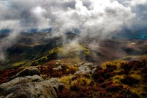 Crimpiau from Craig Wen; between autumnal squalls
