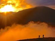 Autumn sunset on Gairich Beag