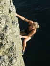 Silje  on Lost in Time**  F4+, S0 DWS Aquanaut Buttress, Seacombe