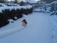 Winter slacklining, sheffield