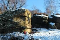 Snowy Car Park boulders!