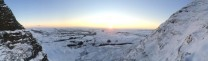 Alpine sunrise in MamTor Gulley