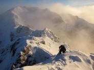 Aonach Eagach winter traverse