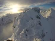 Stunning views off the ridge.
