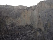 The rock scar above the Lost World