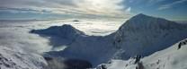 Lliwedd and Wyddfa in a sea of cloud
