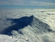 The Isle of Lliwedd in a sea of cloud