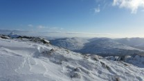 The view from the top of chockstone gully
