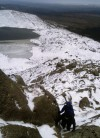 My fist winter route = seeking out the hard bits on the easy Daear Ddu ridge