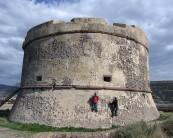 Buildering at Bosa, Sardinia
