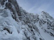 Gary Kinsey leading the traverse pitch on Gemini.