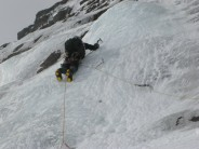 Bottom pitches - great ice on Hell's Lum