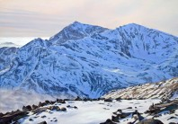 Oil Painting - Yr Wydffa, Snowdon with it's winter coat