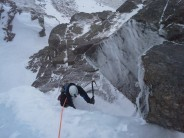 Ice climbing in the cairngorms