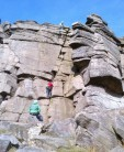 """A """"Popular"""" route on a sunny day, unknown climbers"""