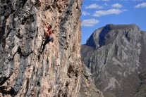 Ben Heason on Baby Face, Little Cave, Vratsa, Bulgaria