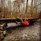 Derwentwater bridge traverse. Onsight Alex Innes Thomson